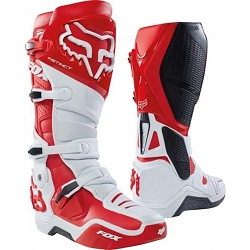 2 roues méloises : FOX INSTINCT BOOT WHITE RED