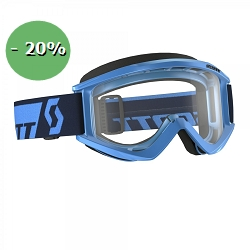 2 roues méloises : GOGGLE RECOILXI BLUE CLEAR WOR